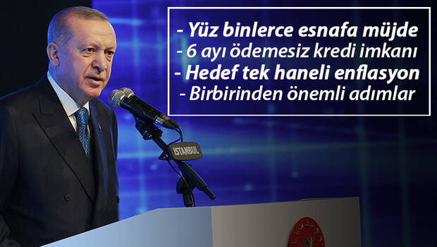 CUMHURBAŞKANI ERDOĞAN'DAN ESNAFA MÜJDE!