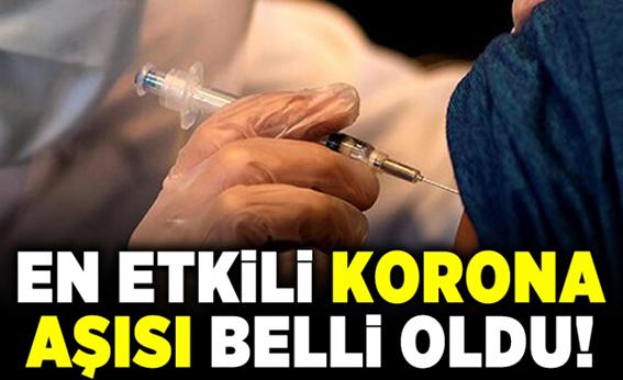 EN ETKİLİ KORONA AŞISI BELLİ OLDU!
